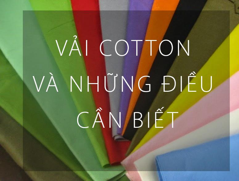 Vải cotton và những điều cần biết