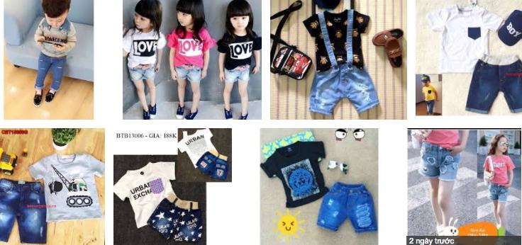 áo thun quần jean trẻ em