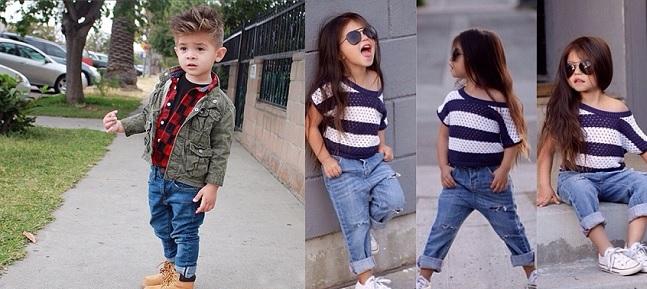 thời trang jean trẻ em