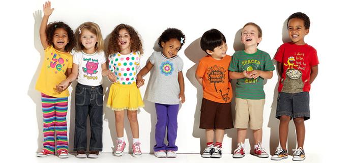 áo thun trơn trẻ em