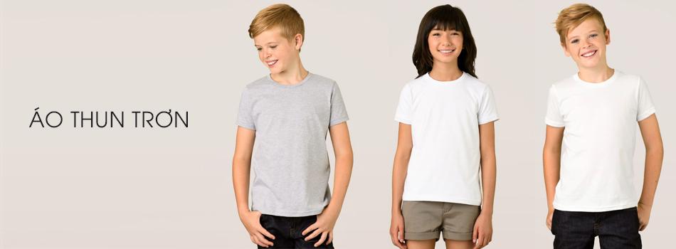 áo thun trơn trẻ em kidstyle