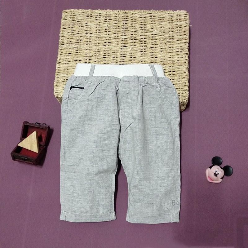 quần trẻ em chất vải linen