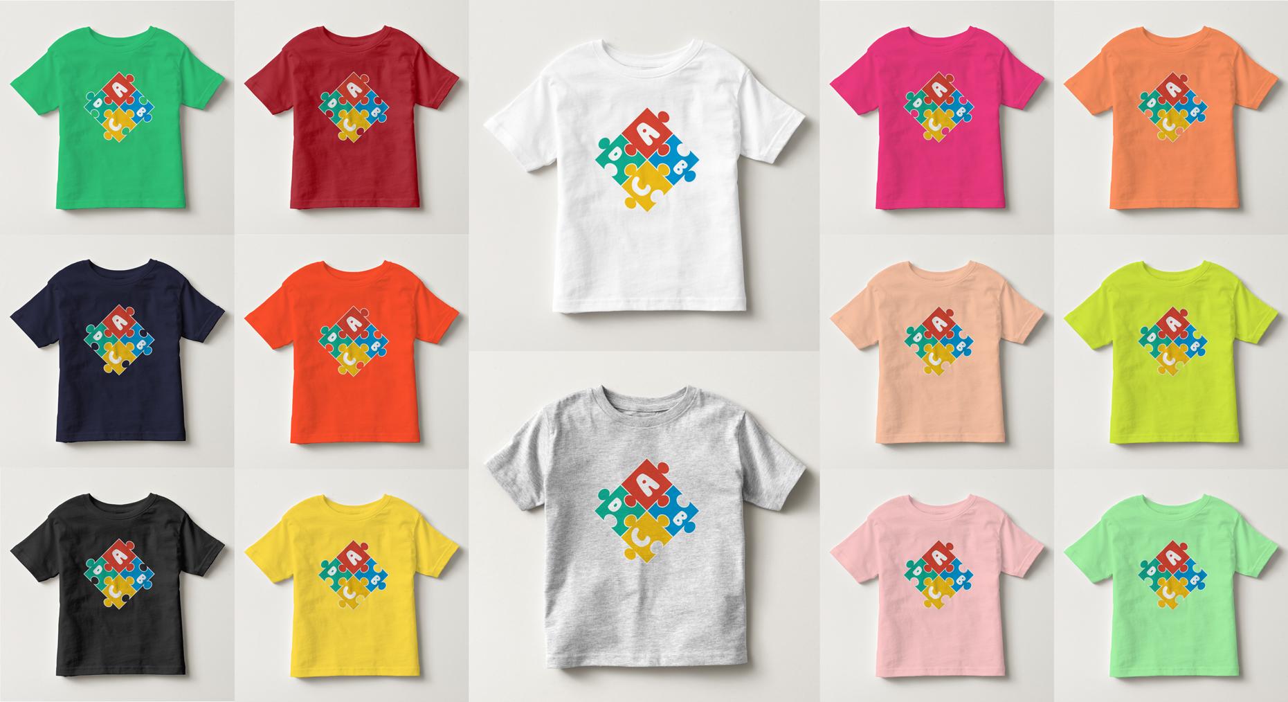 áo thun trẻ em in chữ cái abcd