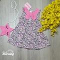 DG4220219 - Đầm Kate cotton phối tơsọc kèm giỏ Ngôi sao thêu