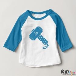 Áo thun trẻ em ráp lăng tay 3/4 in Cool Kid Never Sleep