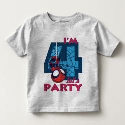 Áo thun trẻ em in Spiderman 4 tuổi ngược (4 màu)
