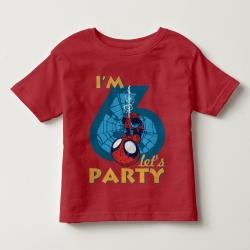 Áo thun trẻ em in Spiderman 6 tuổi ngược (4 màu)