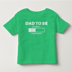 TNF70012- Áo thun trẻ em tay ngắn in chữ Dad To ( Xanh lá)