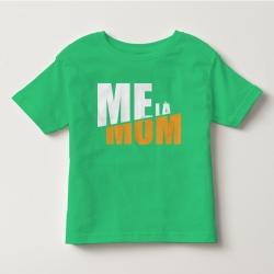 TNF69012- Áo thun trẻ em tay ngắn in chữ Mẹ Là Mom màu Xanh lá