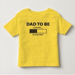 TNF70010- Áo thun trẻ em tay ngắn in chữ Dad To Be  (vàng)