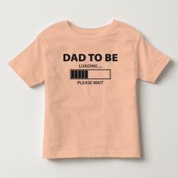 TNF7007- Áo thun trẻ em tay ngắn in chữ Dad To Be  (hồng cam)