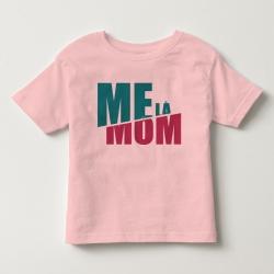 TNF6909- Áo thun trẻ em tay ngắn in chữ Mẹ Là Mom màu Hồng phấn