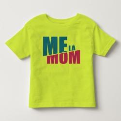 TNF69011- Áo thun trẻ em tay ngắn in chữ Mẹ Là Mom màu Vàng chanh