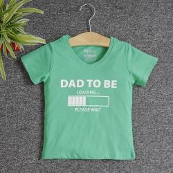 VNF7012 - Áo thun trẻ em cổ tim tay ngắn in chữ Dad To Be (Xanh lá)