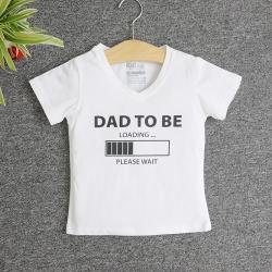 Áo thun trẻ em in chữ dad to be