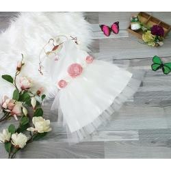 DG142152 Đầm công chúa ren tầng eo đính bông 1-8