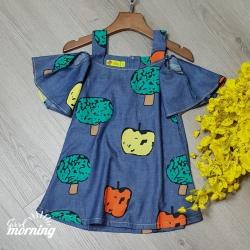 DG2502192 - Đầm jean bông Cotton