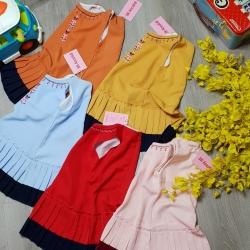 Đầm Dập ly vải Cotton Thái