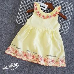 DG00089 Đầm kate bé gái in họa tiết hoa 1-8