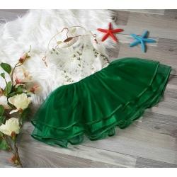 DG140150 Đầm công chúa viền cổ, thêu hoa 1-8