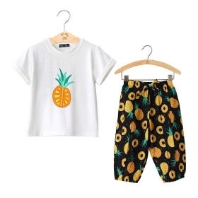 Set áo cotton in dứa+ quần thô cotton- BG2240601
