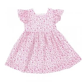 Đầm cổ vuông cánh tiên trái dâu-DG2240601