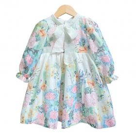 Váy tơ hoa chân -DG2200801