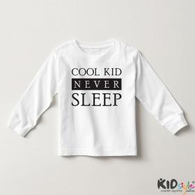 Áo thun tay dài in Cool Kid Never Sleep đẹp (4 màu)