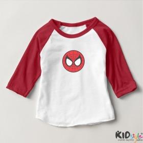 Áo thun trẻ em ráp lăng tay 3/4 in mặt Spiderman (4 màu)