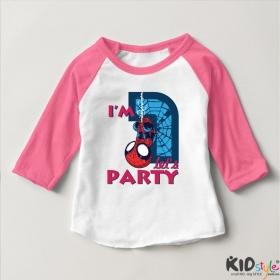 Áo thun trẻ em ráp lăng tay 3/4 in Spiderman 1 tuổi ngược (4 màu)