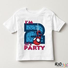 Áo thun trẻ em in Spiderman 2 tuổi ngược (4 màu)