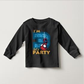 Áo thun tay dài in Spiderman 3 tuổi ngược (4 màu)