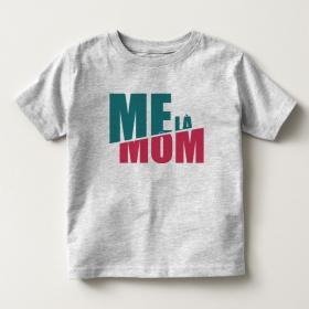 TNF6903- Áo thun trẻ em tay ngắn in chữ Mẹ Là Mom màu xám