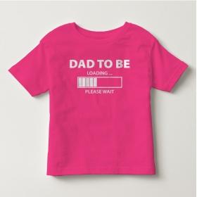 TNF7008- Áo thun trẻ em tay ngắn in chữ Dad To Be  (Hồng cánh sen)