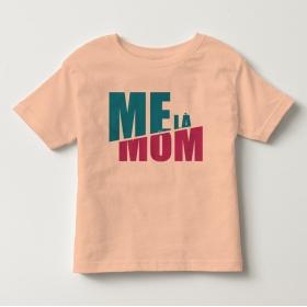 TNF6907- Áo thun trẻ em tay ngắn in chữ Mẹ Là Mom màu hồng cam