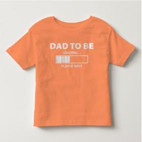TNF7006- Áo thun trẻ em tay ngắn in chữ Dad To Be  (ca rốt nhạt)