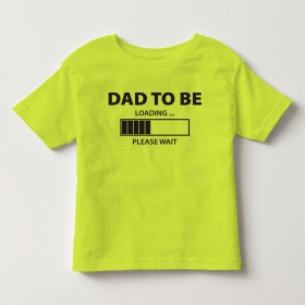 TNF70011- Áo thun trẻ em tay ngắn in chữ Dad To Be  (vàng chanh)