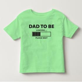 TNF70013- Áo thun trẻ em tay ngắn in chữ Dad To ( Xanh bơ )
