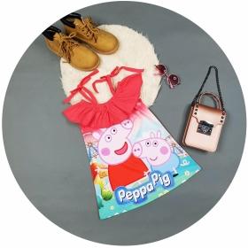 Đầm 3d heo peppa