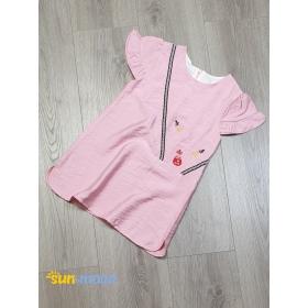DG220401 - Đầm bé gái vải tơ sọc