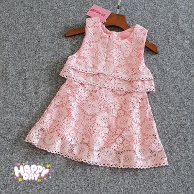 DG92110 Đầm bé gái phủ ren hoa 1-8