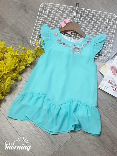 DG190601 - Đầm thời trang thêu cổ
