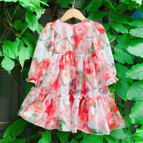 Váy tơ hoa hồng -DG2200803