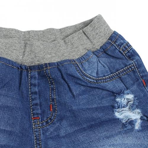SJB68002 - Quần jean short bé trai lưng bo (8 size - 2 màu)