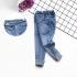QG250902-Jean dài đai kiểu bẻ lai