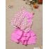 BG2250402- Set Quần váy Tơ sọc - áo bông Cotton