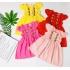 DG300903-Đầm bèo ngực thêu hoa