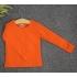 TD04 - Áo thun trơn trẻ em cổ tròn tay dài (Màu đỏ đậm)
