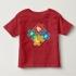 TNL6802 - Áo thun trẻ em cổ tròn tay ngắn in chữ cái ABCD vuông (Màu đen)