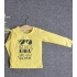 TDE6912 - Áo thun trẻ em cổ tròn tay dài in chữ Think Like a Boss (Xanh lá)